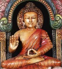 Wooden Buddha - Mudra