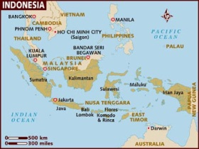 Indonesia Java map