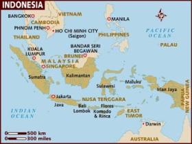 Indonesia Java map